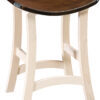 Amish Norcross Stationary Barstool with Two Tone Finish