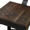 Amish Norfolk Bar Stool Seat Detail