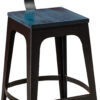 Amish Norfolk Bar Stool with Blue Stain