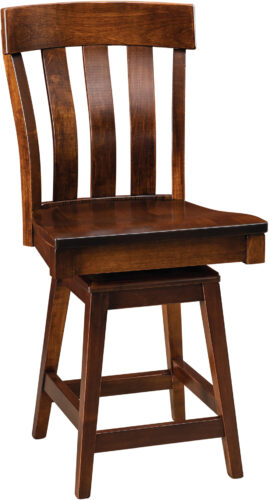 Amish Raleigh Bar Stool with Swivel Base