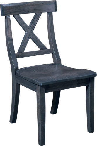 Amish Vornado Side Chair with Indigo Stain