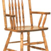 Amish Spring Meadow Pressback Chair with Arms