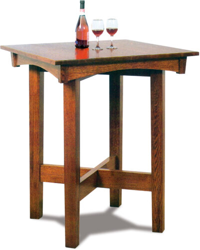 Custom Arts and Crafts Pub Height Table