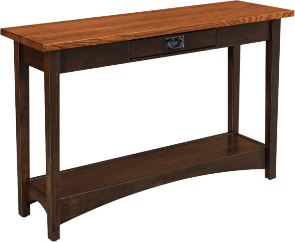 Custom Arts and Crafts Open Sofa Table