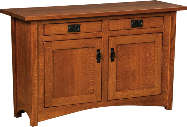 Custom Arts and Crafts Cabinet Sofa Table