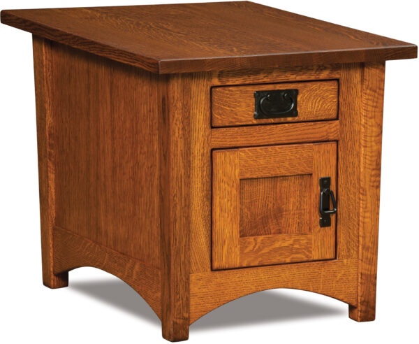 Custom Arts and Crafts Cabinet Style End Table