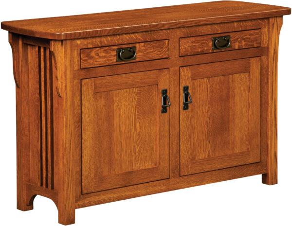 Custom Craftsman Sofa Table Cabinet