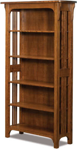 Custom Craftsman Mission Collection Bookcase with Four Adjustable Shelves