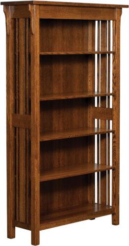 Custom Elliot Mission Bookcase with 4 Adjustable Shelves