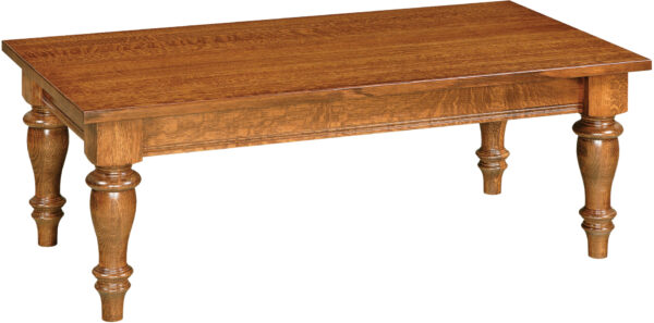 Custom Harvest Collection Coffee Table with Turned Legs