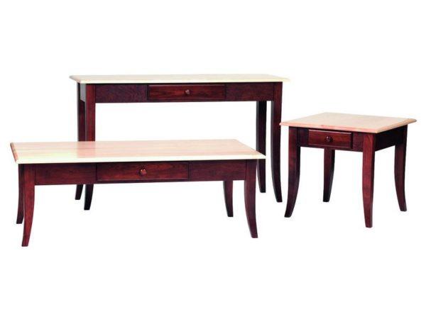 Custom Carlisle Shaker Occasional Table Set