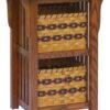 Amish Double Basket Upright Mission Shelf
