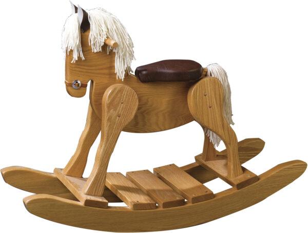 Amish Classic Style Padded Seat Rocking Horse
