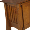 Amish Craftsman Mission TV Stand Side Detail View