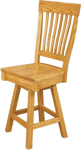 Amish Dillard Style Swivel Bar Chair without Arms