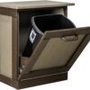 Custom Polywood Tilt Out Trash Bin Open