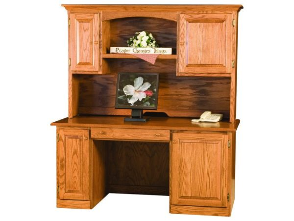 Amish Traditional Style Desk and Hutch