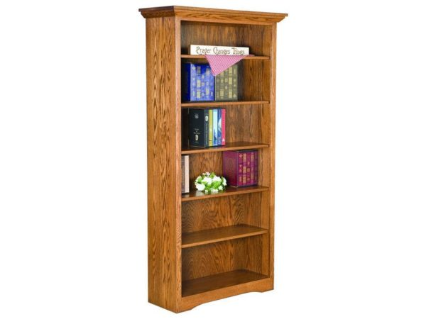 Amish Solid Side Bookcase