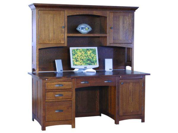 Amish Oakwood Computer Desk