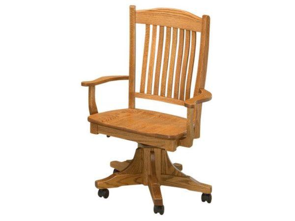 Amish Lyndon Wood Desk Chair