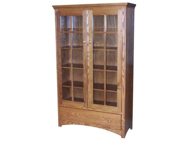 Amish Two Door Mission Bookcase