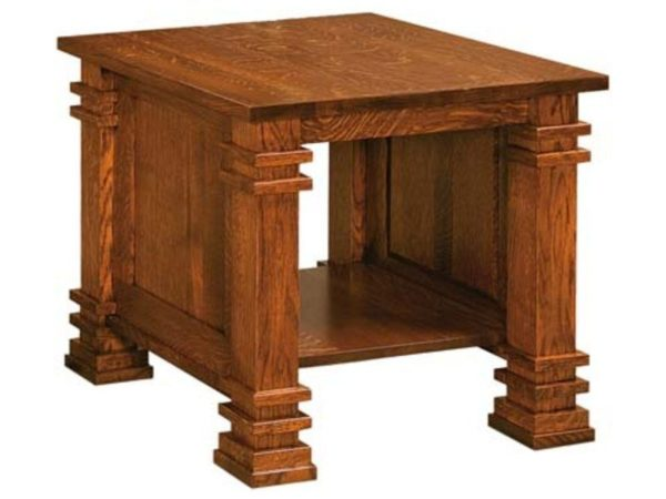 Amish Diamond End Table