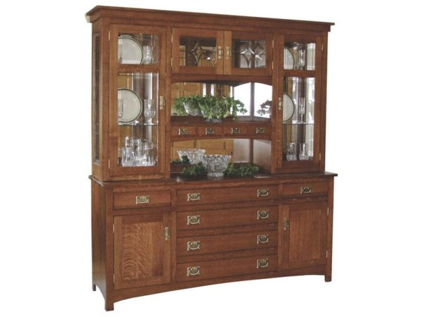 Amish Cape Cod Mission Hutch with Six Drawers