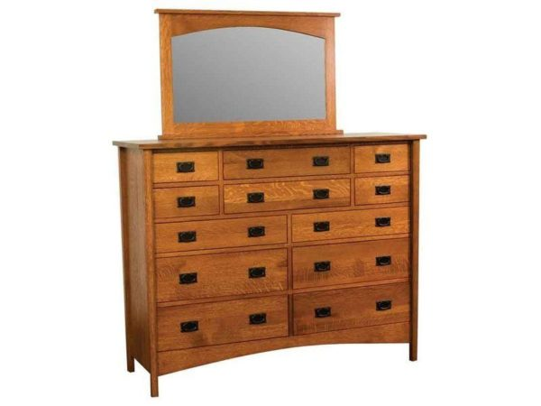 Amish Arts and Crafts Twelve Drawer Dresser