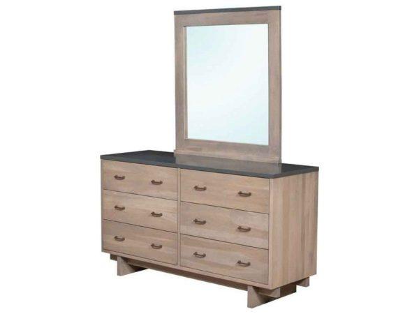 Amish Kashima Six Drawer Dresser with Mirror