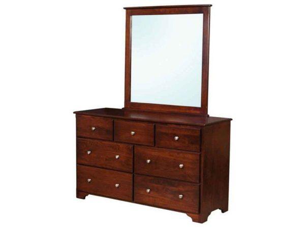 Amish Millerton Dresser with Mirror