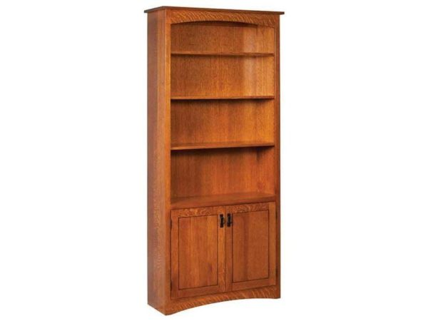Amish Mission Bookcase with Doors