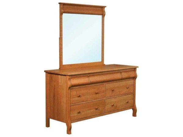 Amish Pierre Seven Drawer Dresser with Mirror
