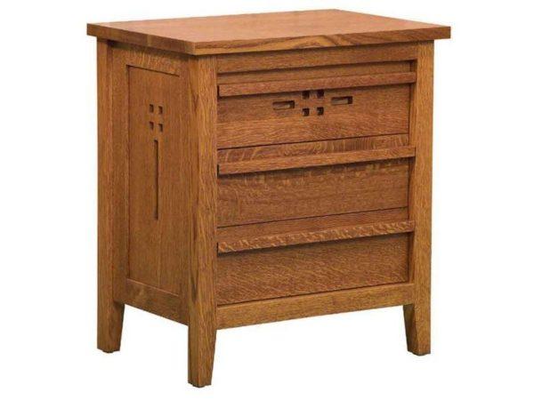 Amish West Village Three Drawer Nightstand
