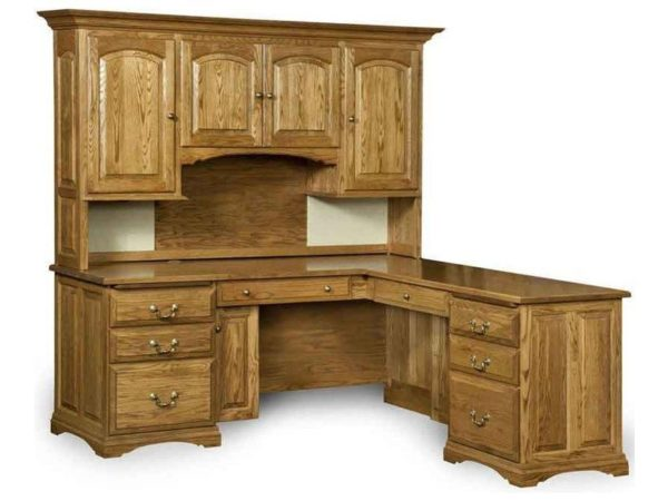 Amish Mannington L Desk with Hutch