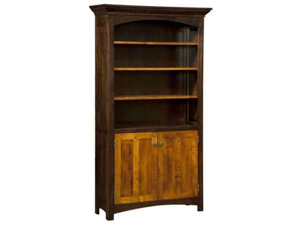 Amish Oakwood Bookcase with Doors