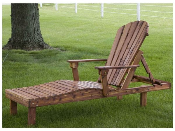 Cedar Chaise Lounge Adirondack Chaise Lounge
