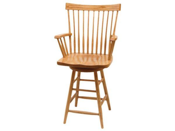 Amish Comback Swivel Bar Chair