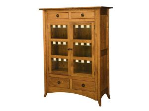 Shaker Hill Two Door Cabinet with Glass Panels