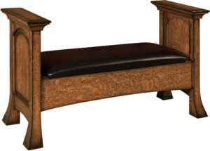 Amish Breckenridge Bedroom Bench Seating with Storage and Style