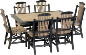 Amish Patio Table and Chair Set