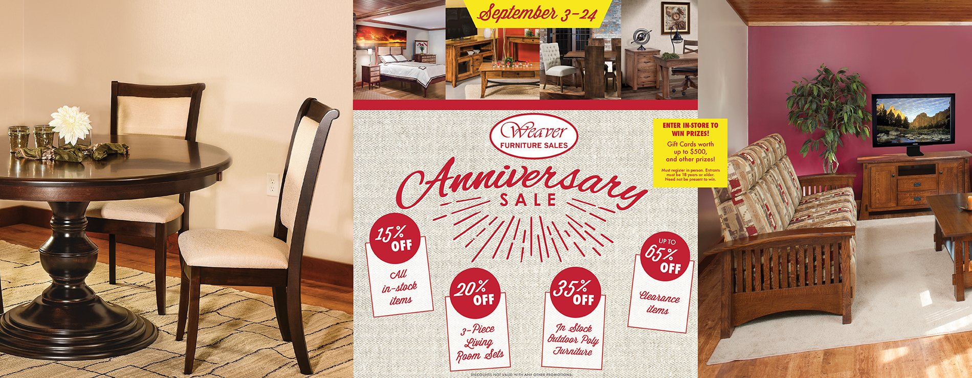Weaver Anniversary Furniture Sale 2018
