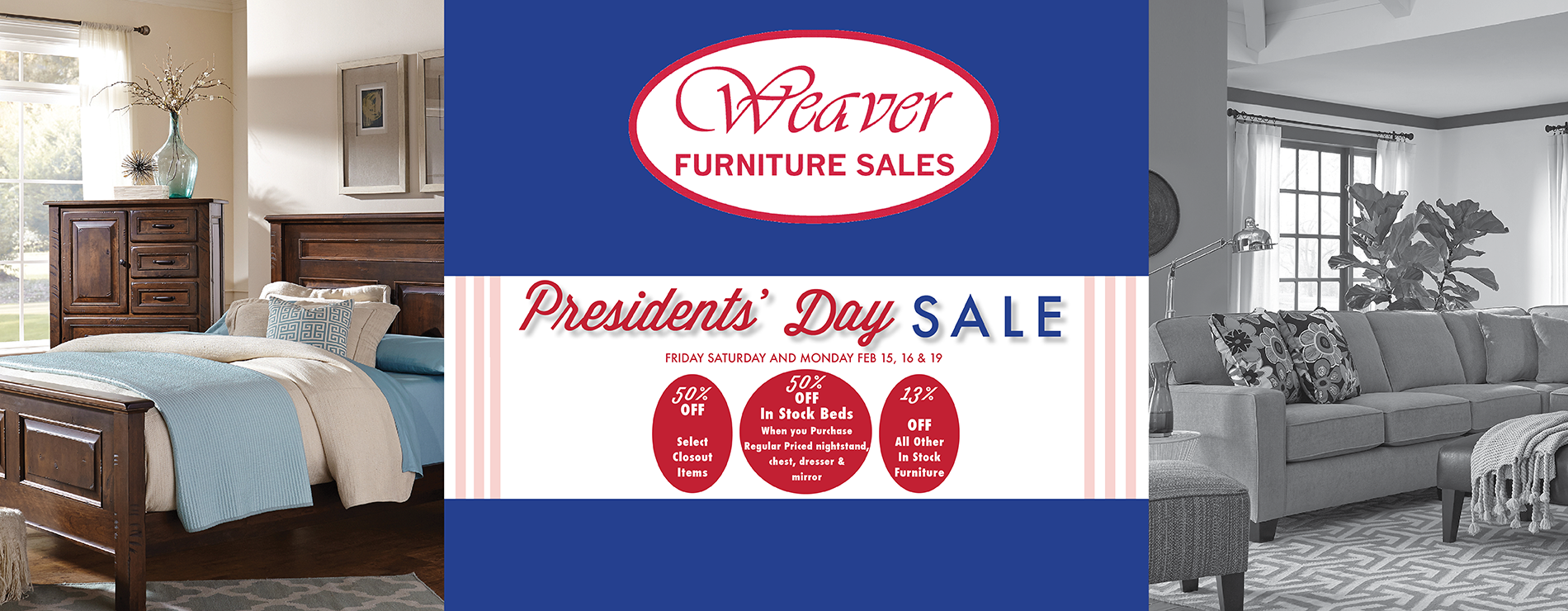 Weaver Furniture Presidents Day Sale