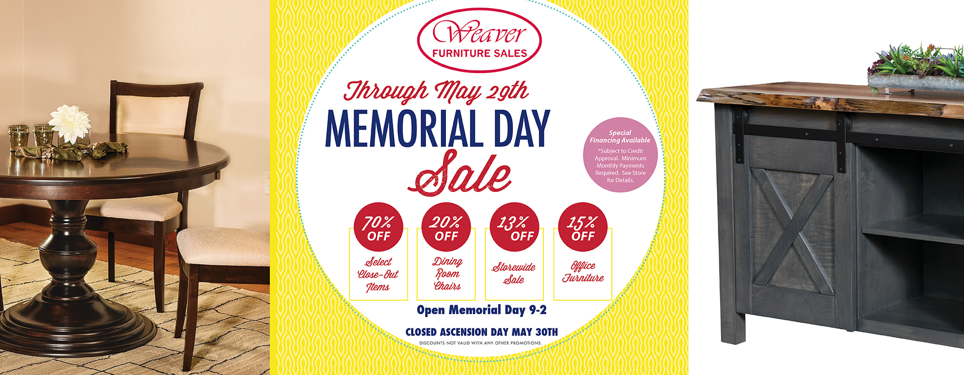 Weaver Amish Furniture Memorial Day Furniture Sale 2019
