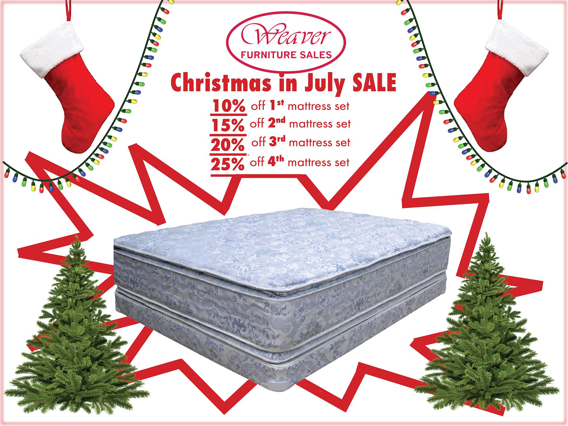 Christmas in July Mattress Sale