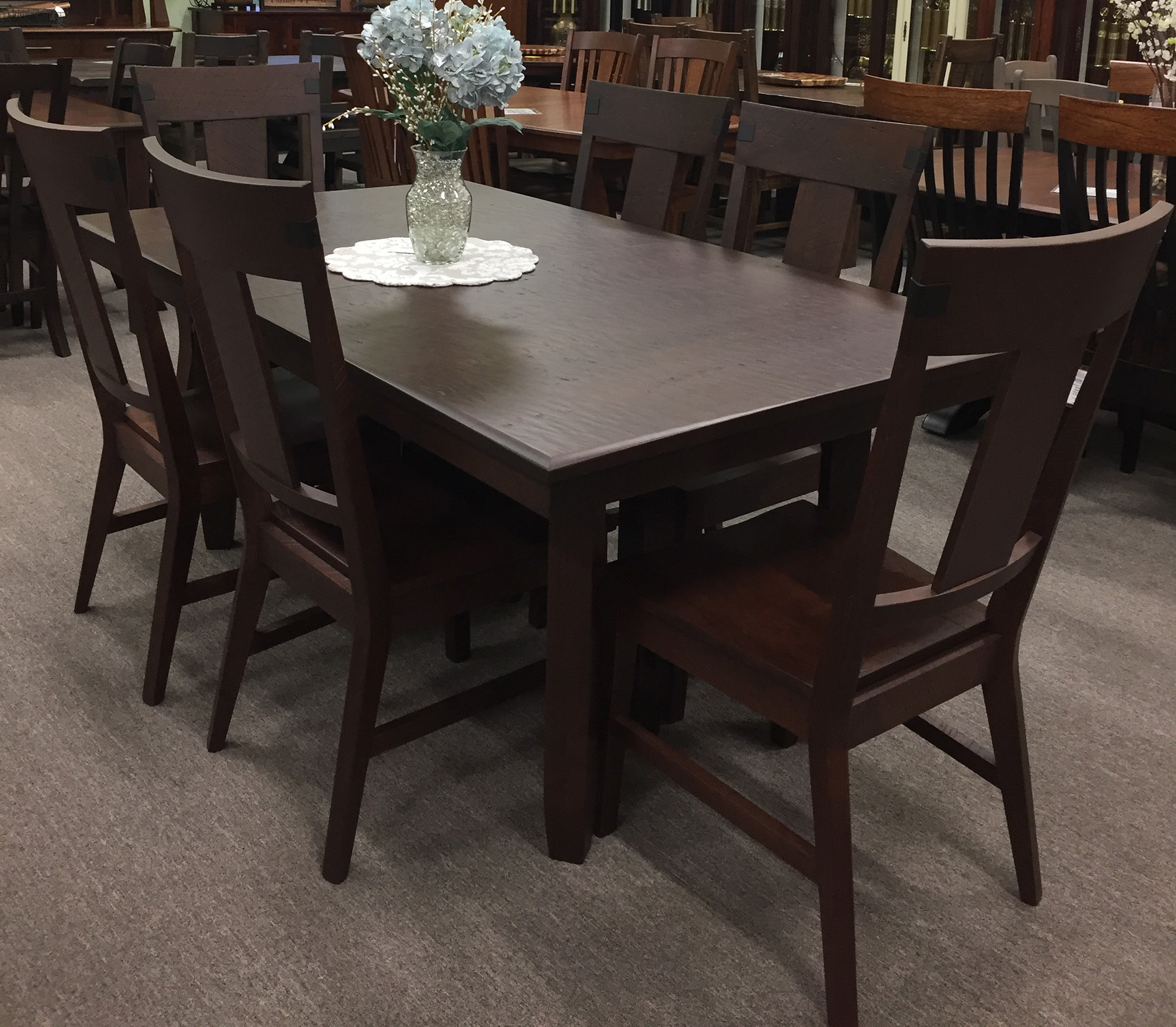 Montana Hand Planed Rustic Cherry Dining Collection