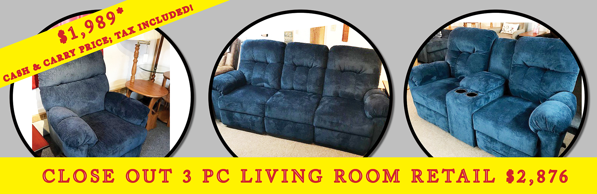 3 Piece Living Room Set Sale