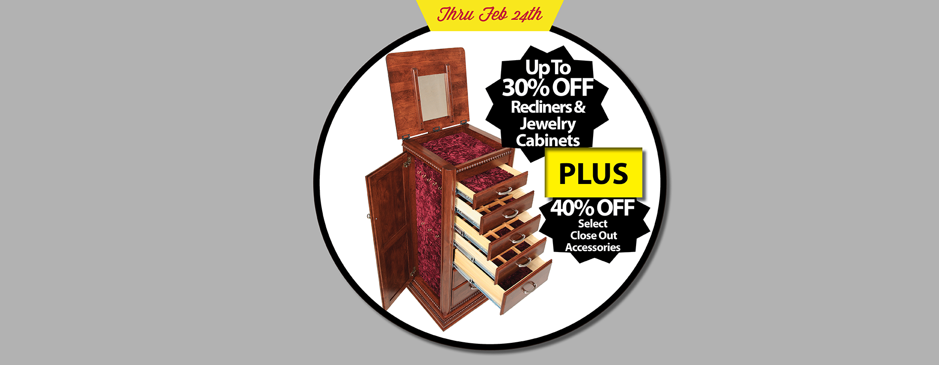Weaver Amish Jewelry Cabinet Sale