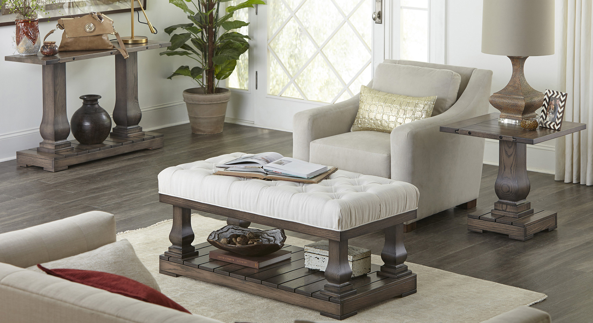 Imperial Cushioned Living Room Setting