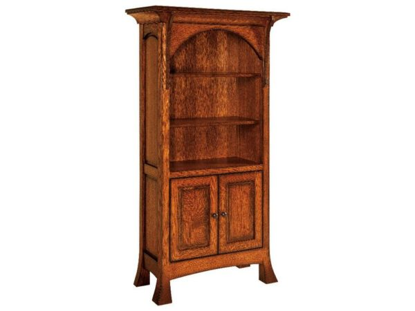 Amish Breckenridge Bookcase With Doors