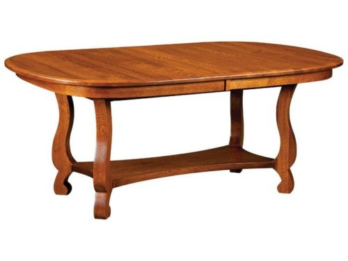 Old Classic Sleigh Trestle Table